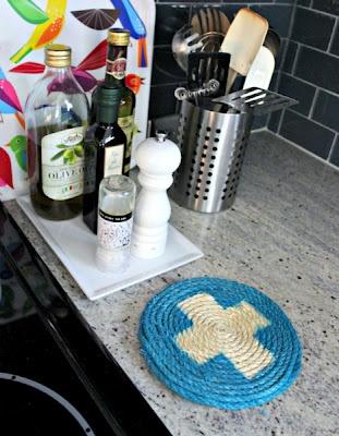 Como hacer un posa pavas con hilo sisal