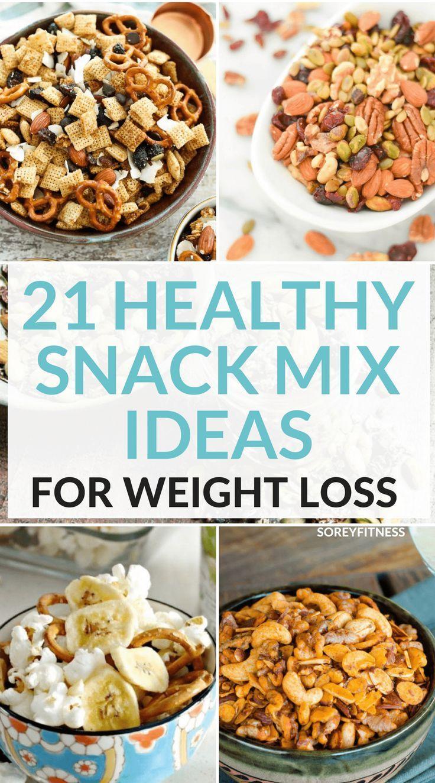 21 recettes de mélanges de collations santé pour perdre du poids (votre famill…