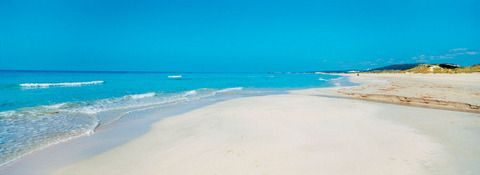 Son Bou beach, Minorca, Balearic Islands, Spain