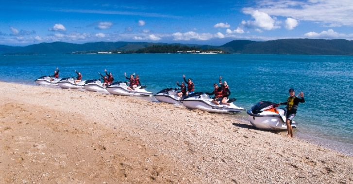 Whitsunday Jet Ski Tours, Airlie Beach - Guided jet ski tours from Airlie Beach to the Whitsunday Islands.