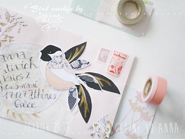 Bird envelope by Bohème Circus