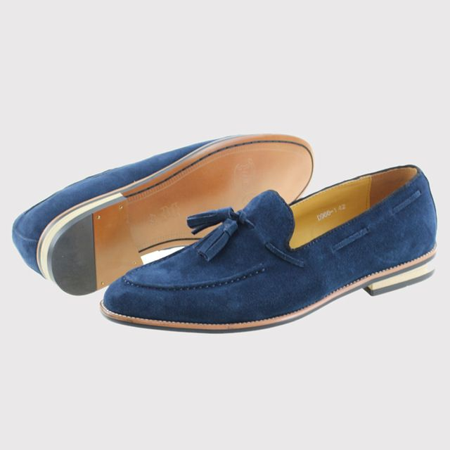 Check lastest price 2017 Cow Suede Genuine Leather Mens Wedding Dress Shoes Slip On Dark Blue Men Casual Loafers Male Driving Flats Party Footwear just only $59.99 with free shipping worldwide  #menshoes Plese click on picture to see our special price for you