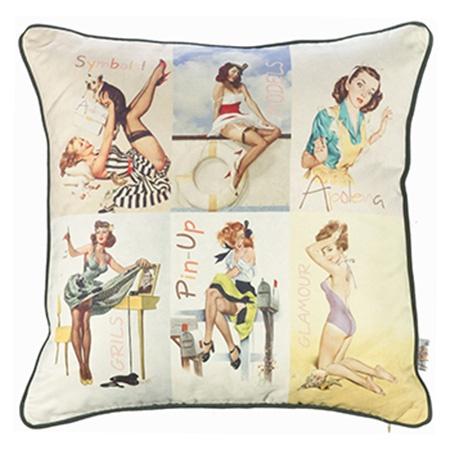 Dekoratif Yastıklar - Pin-Up Kızları Yastık