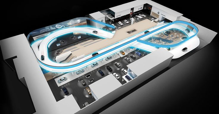 BMW Frankfurt Exhibition with BuiltIn Elevated Test Track
