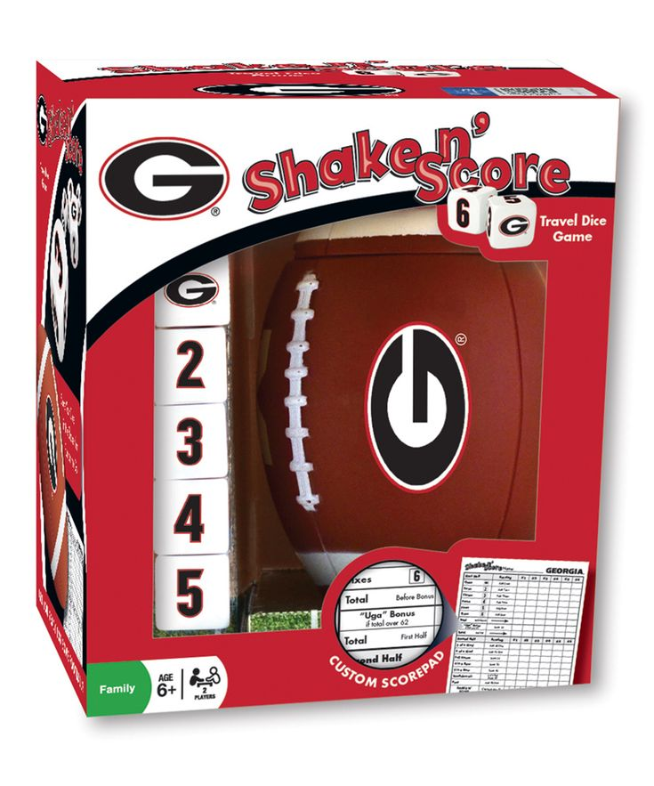 Georgia Bulldogs Football Shake 'n' Score Dice Game
