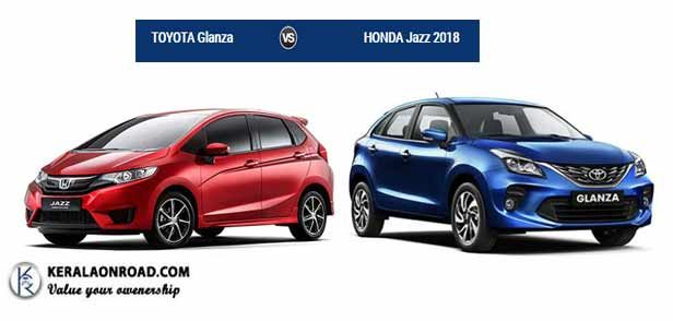 Compare Honda Jazz 2018 Vs Toyota Glanza Price Mileage Features