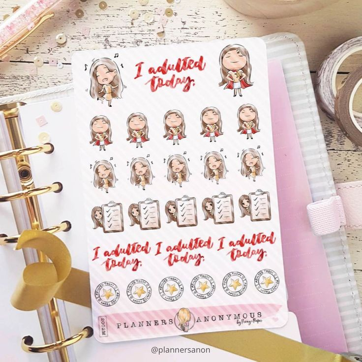 "Paper planners are so satisfying, especially when you can add a bit of fun to them like these stickers from @plannersanon. I definitely need a sticker when I successfully ""adult"" for a day. :) https://plannersanon.com/products/i-adulted-today-planner-sticker-sheet?utm_content=buffer13bac&utm_medium=social&utm_source=pinterest.com&utm_campaign=buffer #nurtureyoursoul #mommusthave #organized"