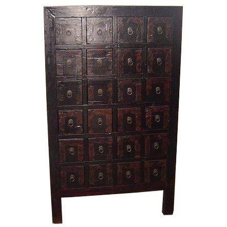 Good Antique 24 Drawer Chinese Medicine Chest   OrientalFurniture.com