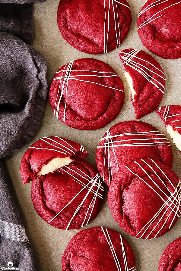 Get your Red Velvet Cake (frosting and all) in cookie form! These irresistibly soft and chewy red velvet cookies stuffed with real deal cream cheese frosting, are pretty amazing! Plus…Recipe VIDEO at the end of the post! Imagine the best red velvet cupcake you've ever had, re-engineered into the softest, puffiest, chewiest cookie… Now scrape off...Read More »