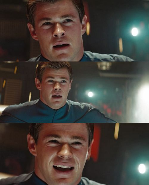 """Star Trek (2009) - George Kirk played by Chris Hemsworth..."""" this scene makes me cry still!!"""" - Um, yes, yes it does"""