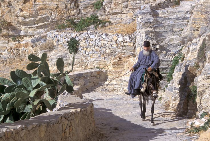 Donkey transport on #Amorgos Island, #Greece
