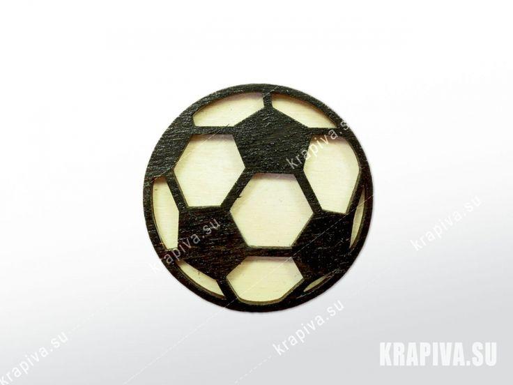 Футбольный мяч  Деревянный значок брошь wood brooch handmade