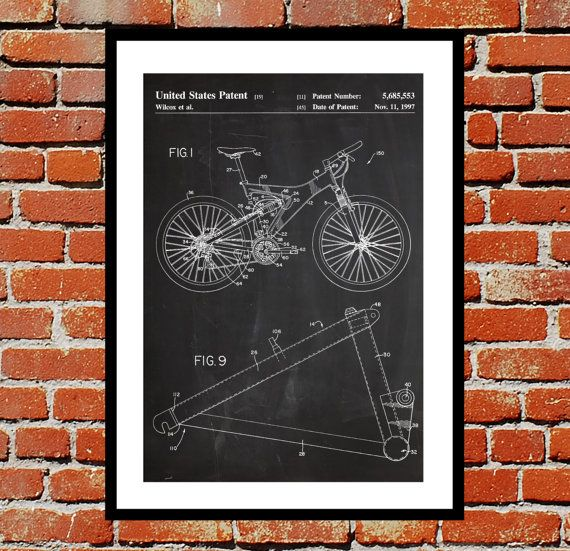Mountain Bike Print Mountain Bike Poster by STANLEYprintHOUSE