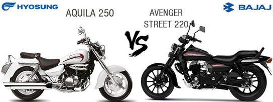 Bajaj Avenger Street 220 VS Hyosung Aquila 250