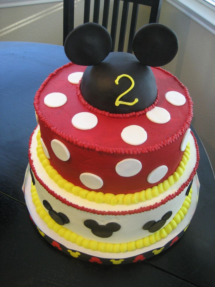 Mickey Mouse Cream Cake Images : Mickey Mouse cake, no fondant! Sammy s First Birthday ...