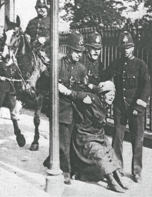 Buckingham Palace by Leonard Bentley, via Flickr, outside Buckingham Palace, 200 Suffragettes tried to storm the palace. 66 were arrested including Emily Pankhurst, We have a lot to thank these women for!