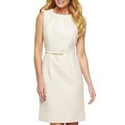 Liz Claiborne Belted Pintuck Dress with Belt $35