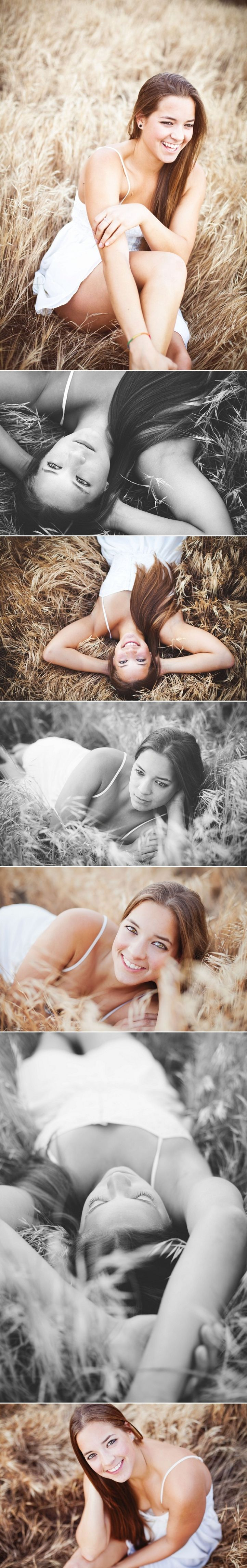 Erica Houck Photography senior portrait shoot photoshoot session field laying down poses
