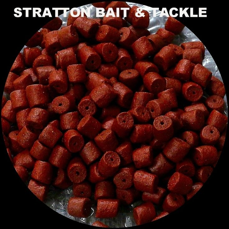 8MM PRE DRILLED RED HALIBUT HOOK PELLETS CARP, COARSE ,STURGEON, CATFISH FISHING