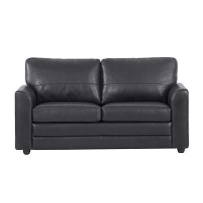 Debenhams Black 'Lola' bonded leather sofa- at Debenhams.ie
