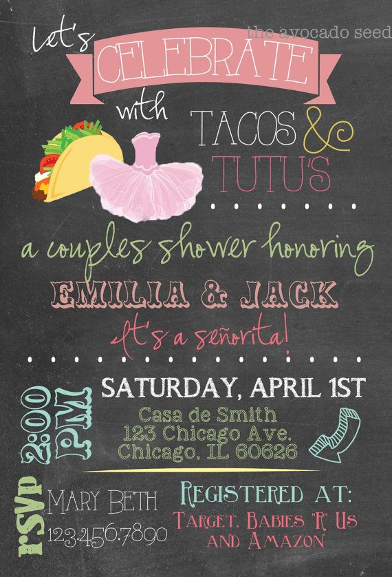 Amazing Coed Baby Shower Themes Part - 9: Tacos U0026 Tutus Baby Shower!