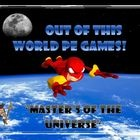 "This lesson plan and diagram is for a large group physical education class game called ""Masters of the Universe It is a throwing, catching, and dodging game. Teams of super heroes try conquer each others solar system by capturing enemies through the time warp into their vortex."