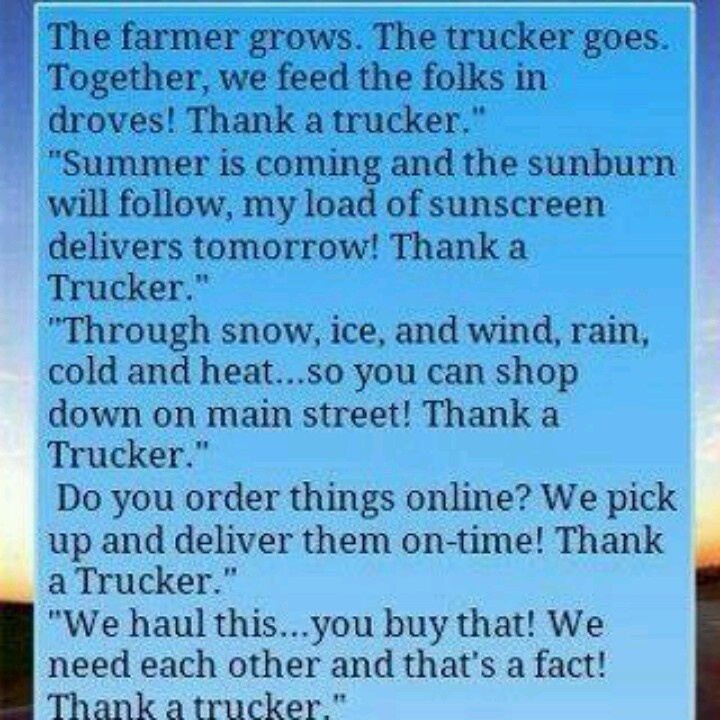 26 Best Thank A Trucker Images On Pinterest