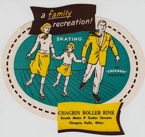 Chagrin Roller Rink - Chagrin Falls, Ohio: Chagrin Valley, Chagrin Fall, Vintage Illustrations, Pies Shops, Vintage Rollers, Rollers Skating Parties, Rollers Rink, Chagrin Rollers, Cleveland Ohio