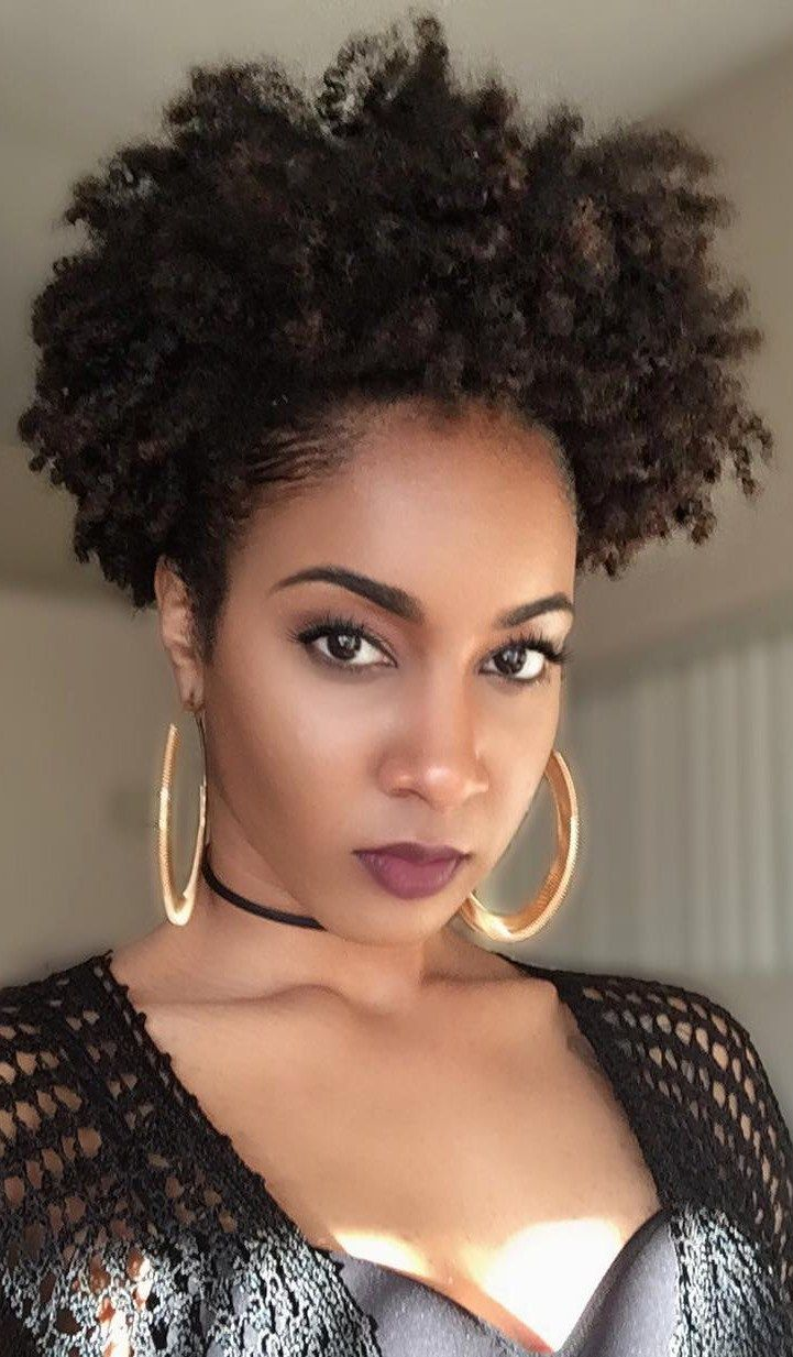 Natural hairstyles for black women do it yourself - Puff Game Natural Hair Look By Heyqray