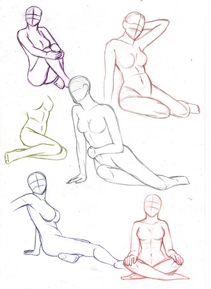 Female sitting poses by aliceazzo.deviantart.com