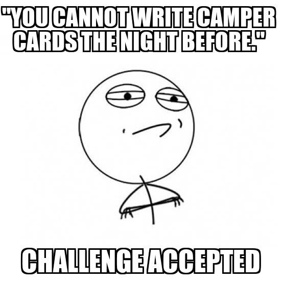 Challenge accepted christian camp meme