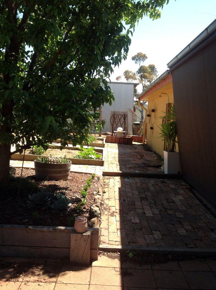 Brick path to Vegie Garden