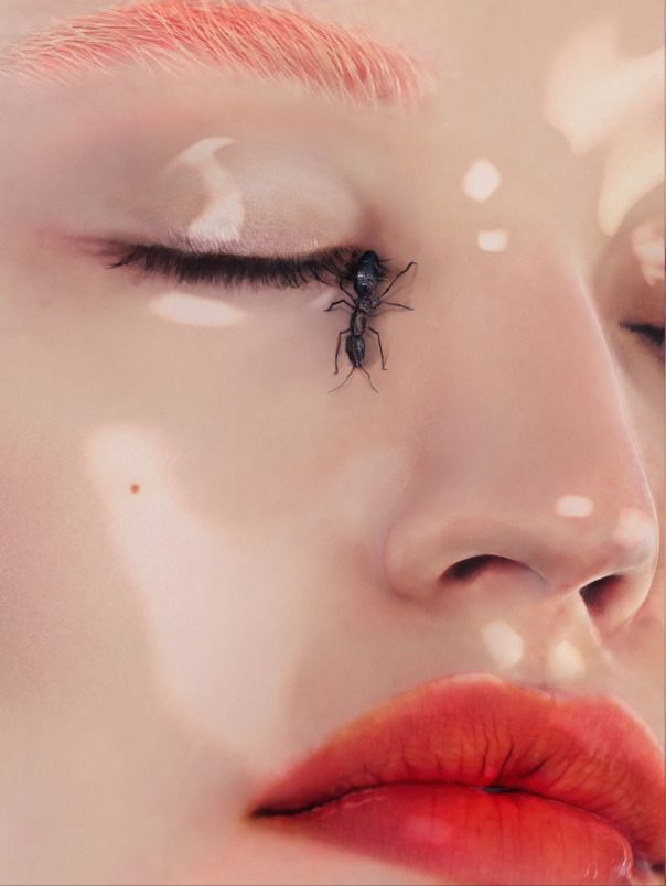 Magazine: Garage Magazine Fall Winter 2014 Photographer: Daniel Sannwald Model: Georgia May Jagger Fashion Editor: Charlotte Stockdale Makeup: Val Garland Awesome experimental beauty story featuring Georgia May Jagger with makeup…