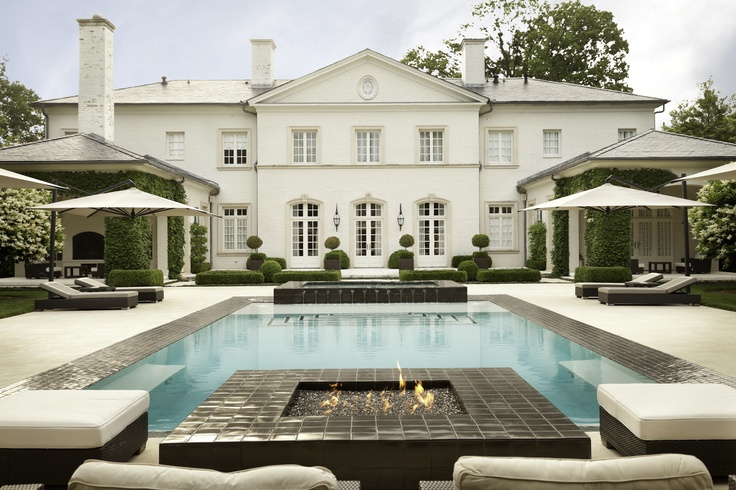 Fire & Water, a poolside garden design by Howard Design Studio.