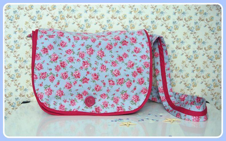 Fucshia Rose Messenger Bag*
