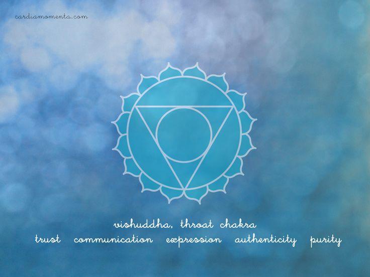 Vishuddha, throat chakra greeting card