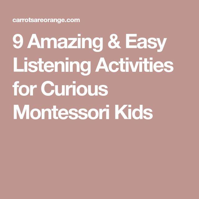 9 Amazing & Easy Listening Activities for Curious Montessori Kids