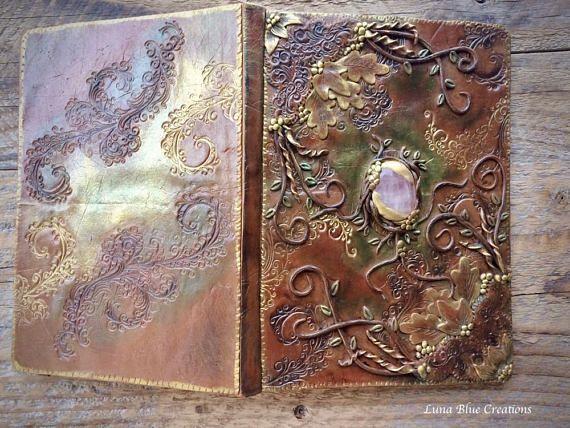 Rose Quartz Journal Polymer Clay Journal Stone Journal