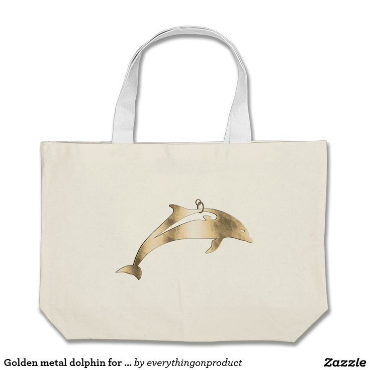 Golden metal dolphin for hanging