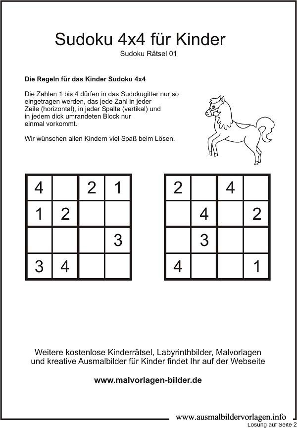 This is a picture of Challenger 4x4 Sudoku Printable