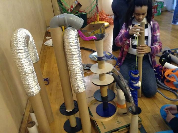 "Brilliant images of creations with simple materials at 'Sackett Street Recreation Center' - images shared by Partnership for Providence Parks ("",)"