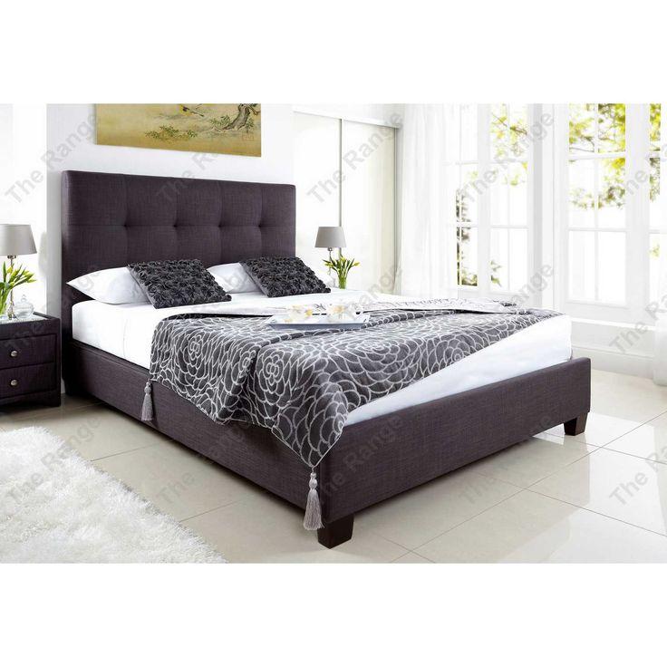 85 best images about beds on PinterestOttomans Grey fabric and