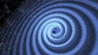 Image copyright                  LIGO/T. Pyle/SCIENCE PHOTO LIBRARY                                                                          Image caption                                      La existencia de ondas gravitacionales fue propuesta por primera vez por Albert Einstein                                Este 2016 parece haber sido un triunfo para la físi