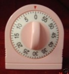 VINTAGE PINK RETRO 60 MINUTE KITCHEN TIMER