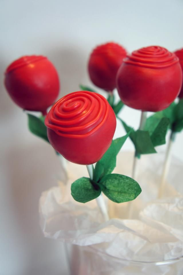Red Rose Cake Pop..All Things Cake and Small - NSW - www.cakeappreciationsociety.com