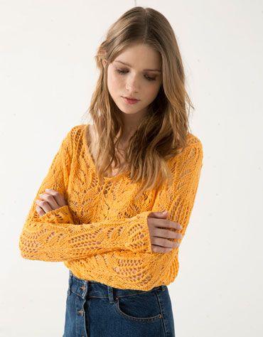 Bershka crochet jumper - New - Bershka Turkey