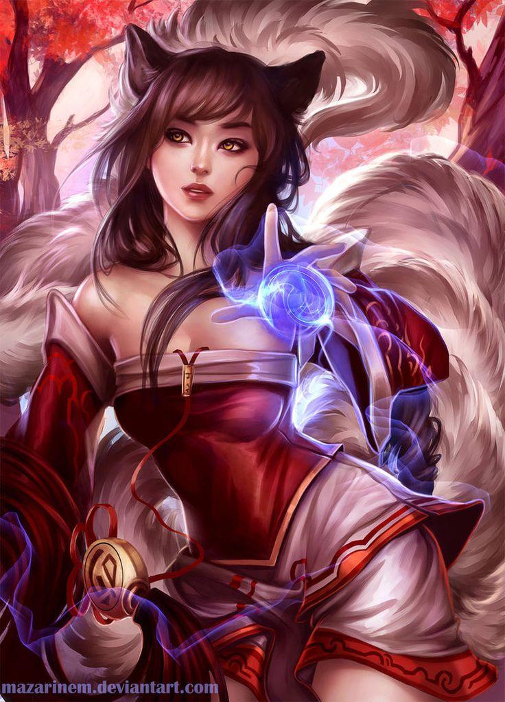 League Of Legends Artwork Ahri