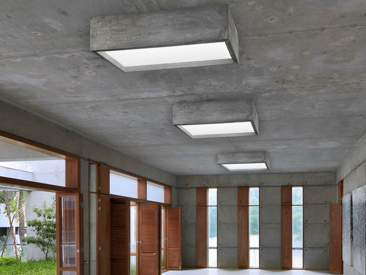 LED cement ceiling lamp CASSERO by LUCIFERO'S