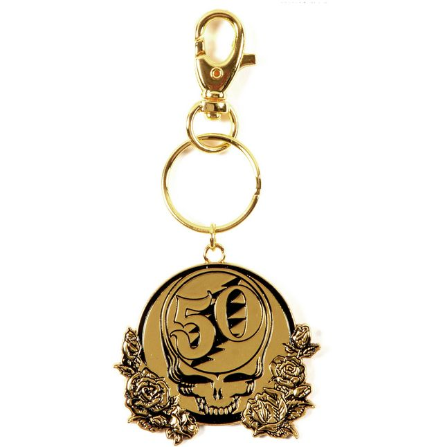 GRATEFUL DEAD 50th Anniversary Metal Key Chain  #gratefuldead #50th #rockabilia #merchandise #licensedmerchandise #merch #keychains #rubberkeychains #metalkeychains #music #entertainment