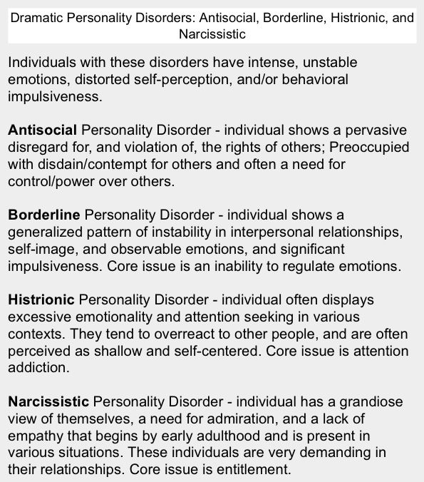 best histrionic personality disorder images 18 best histrionic personality disorder images disorders personality disorder and borderline personality disorder